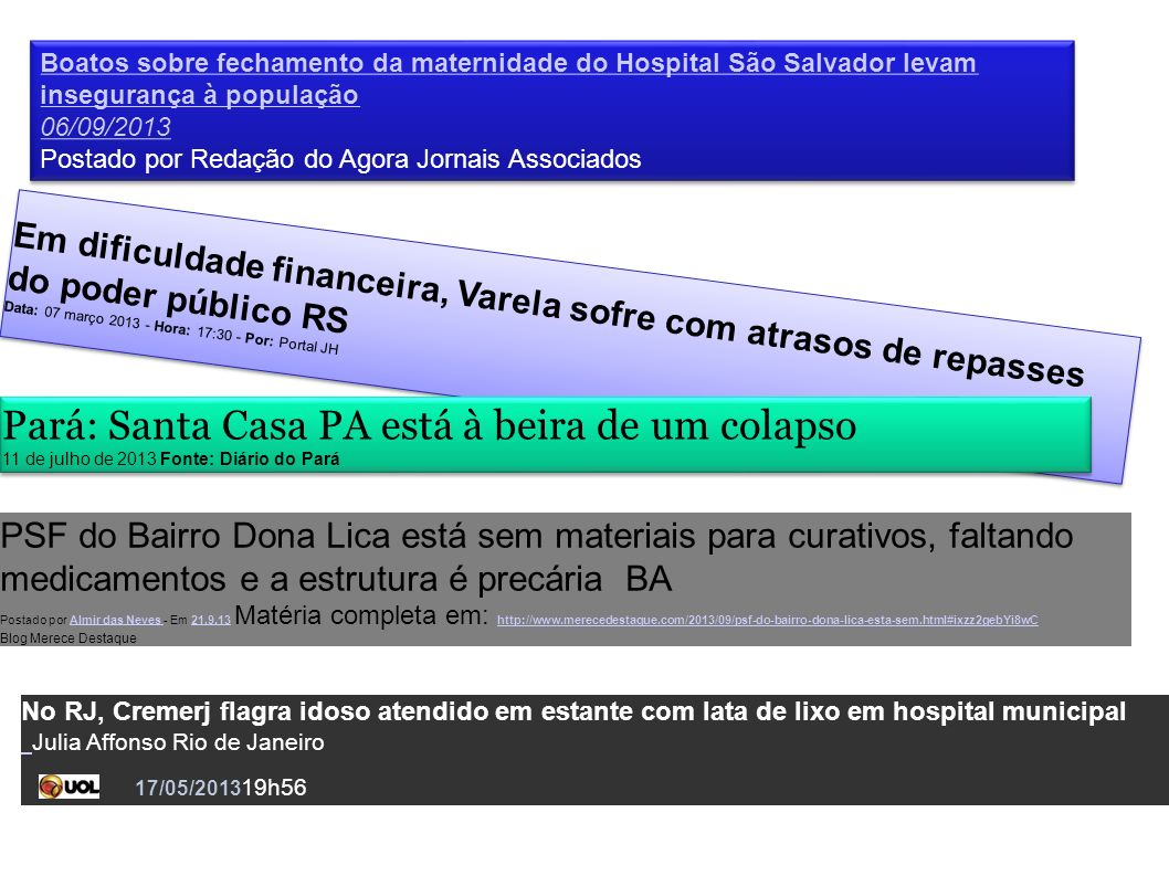 Pará: Santa Casa PA está à beira de um colapso