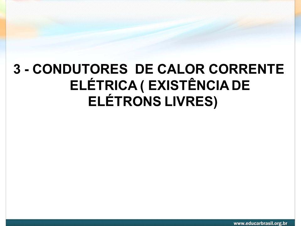 3 - CONDUTORES DE CALOR CORRENTE ELÉTRICA ( EXISTÊNCIA DE
