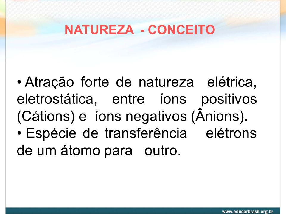 Espécie de transferência elétrons de um átomo para outro.