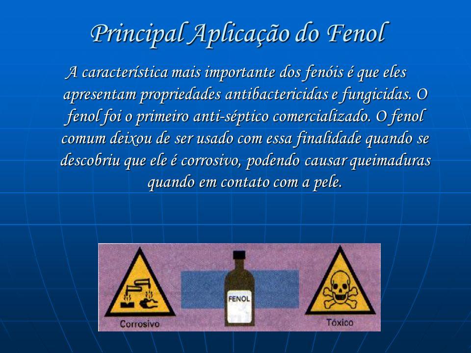 Principal Aplicação do Fenol