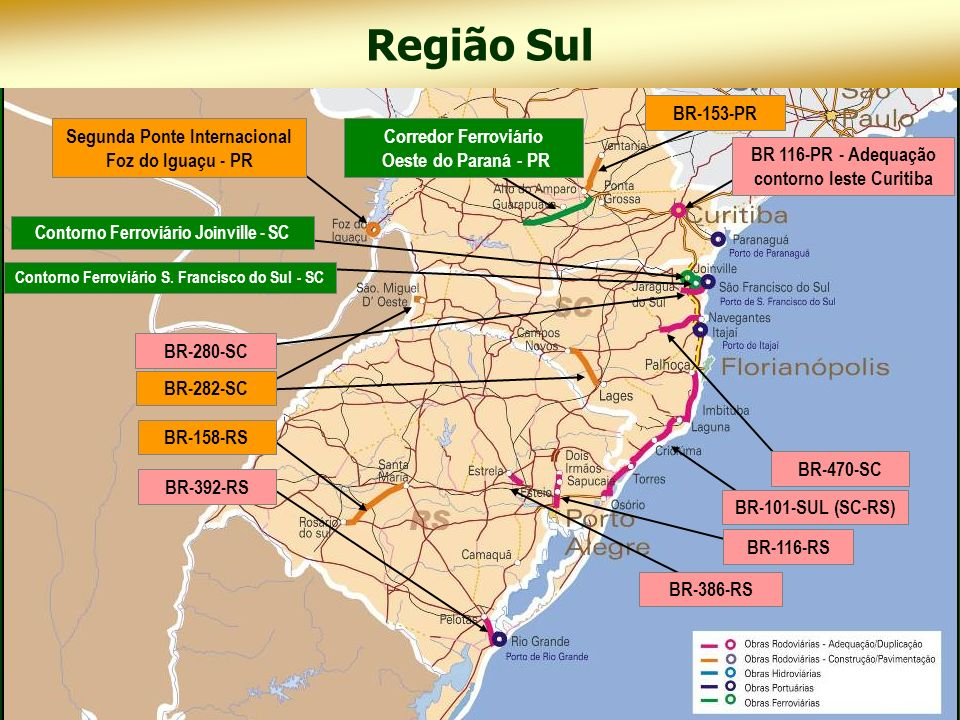 Região Sul BR-153-PR Segunda Ponte Internacional Foz do Iguaçu - PR