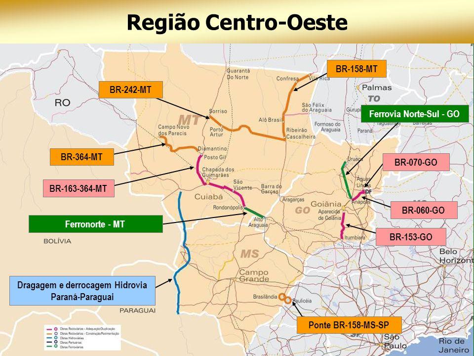 Ferrovia Norte-Sul - GO Dragagem e derrocagem Hidrovia Paraná-Paraguai
