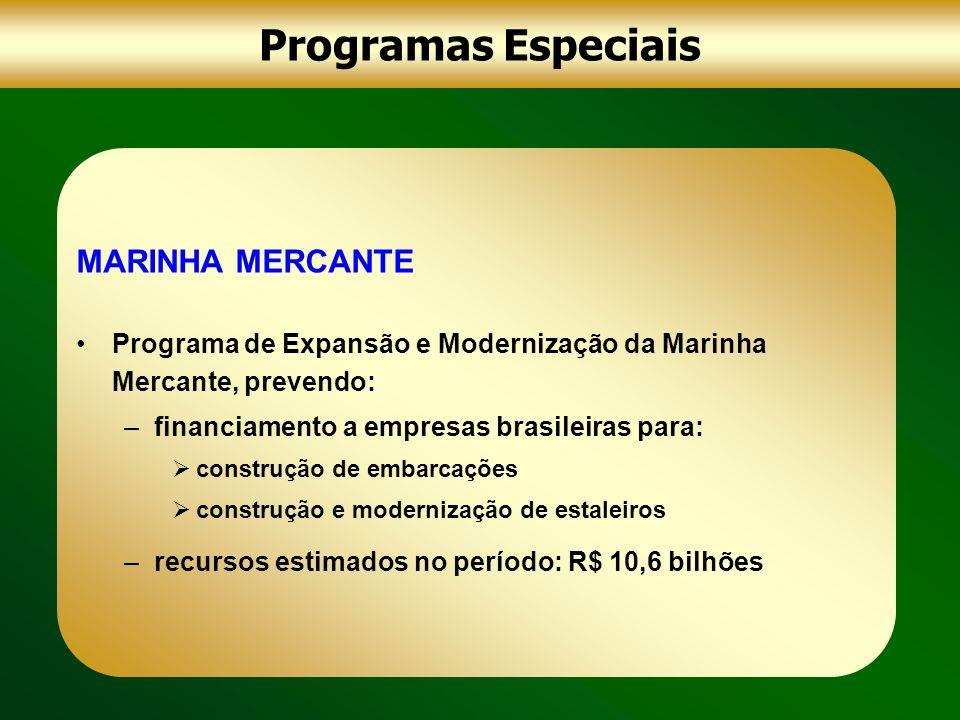 Programas Especiais MARINHA MERCANTE