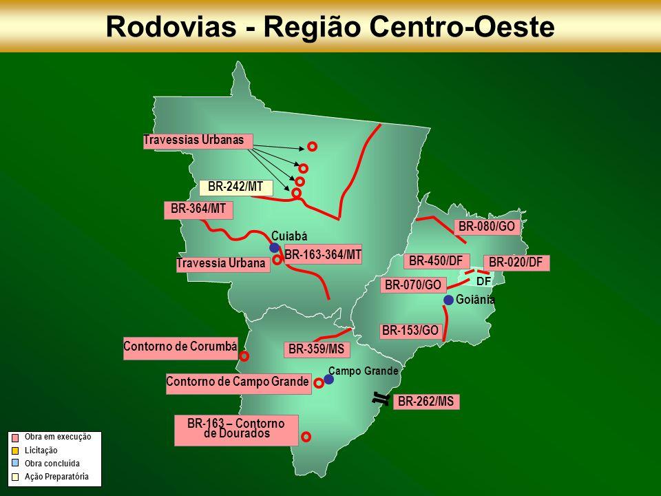 Rodovias - Região Centro-Oeste