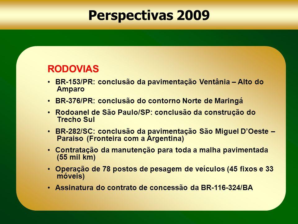 Perspectivas 2009 RODOVIAS