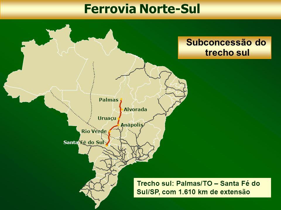 Ferrovia Norte-Sul Subconcessão do trecho sul
