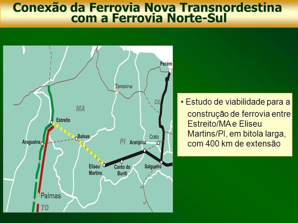 Conexão da Ferrovia Nova Transnordestina com a Ferrovia Norte-Sul
