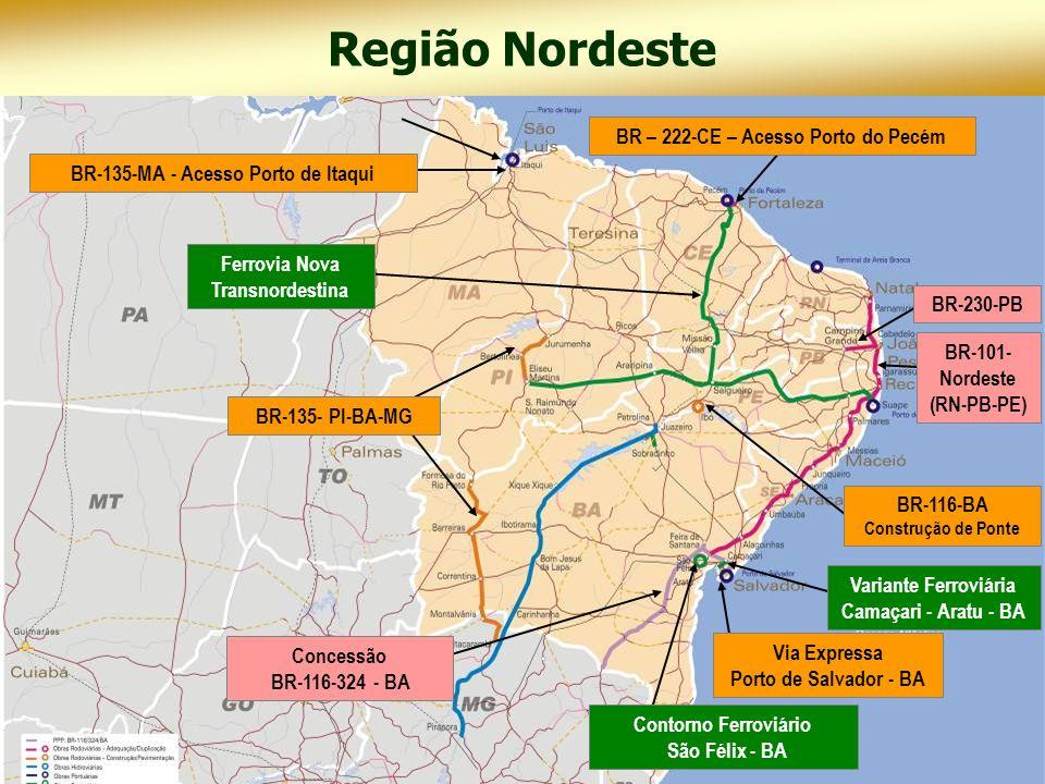 Região Nordeste BR – 222-CE – Acesso Porto do Pecém