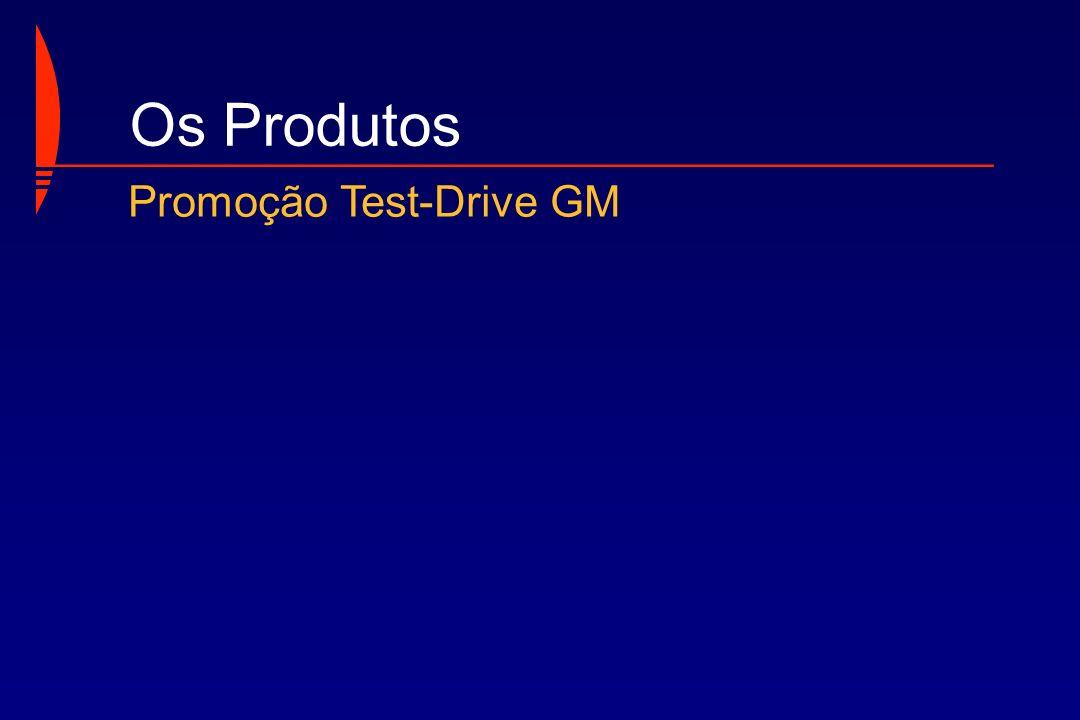 Os Produtos Promoção Test-Drive GM