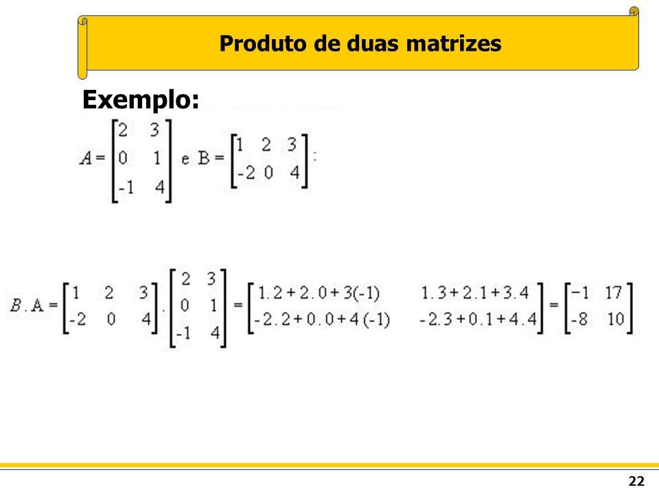 Produto de duas matrizes