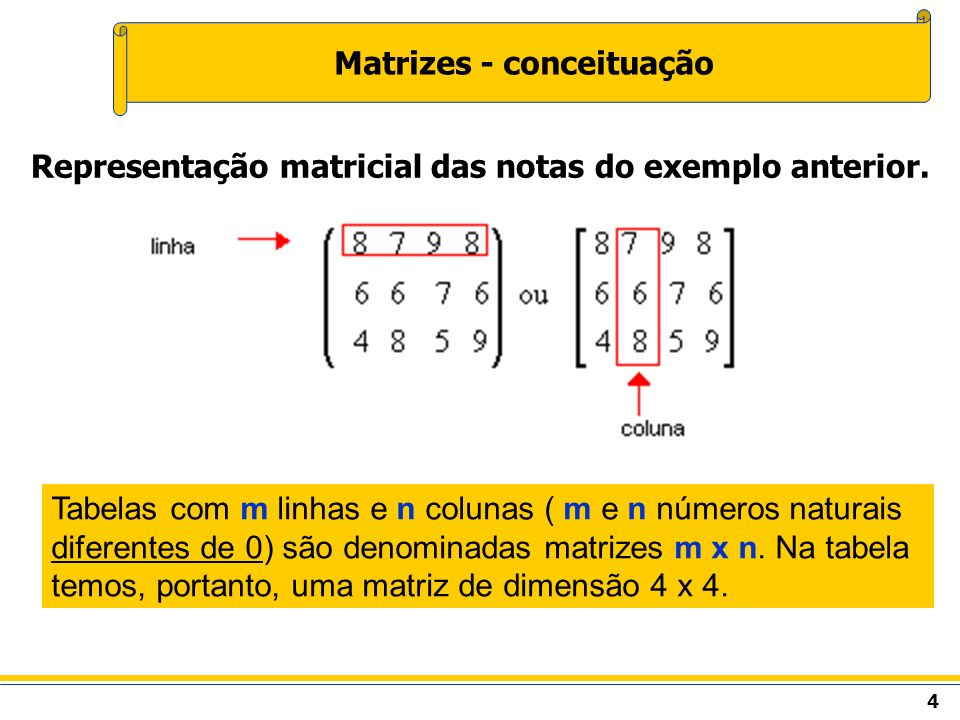 Matrizes - conceituação