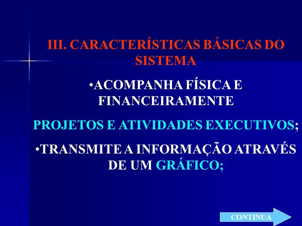 III. CARACTERÍSTICAS BÁSICAS DO SISTEMA