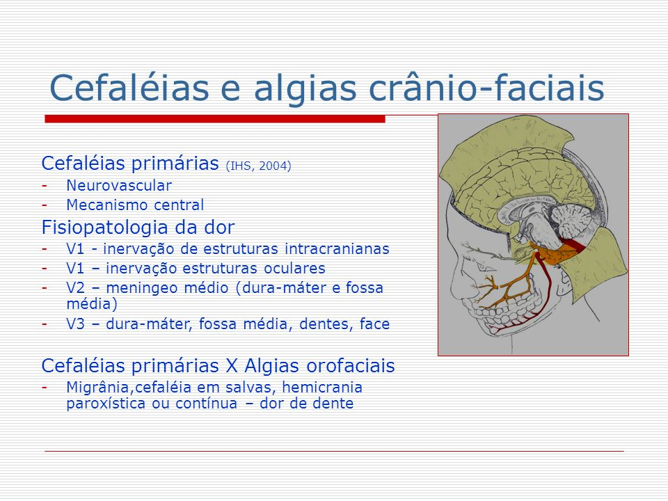 Cefaléias e algias crânio-faciais