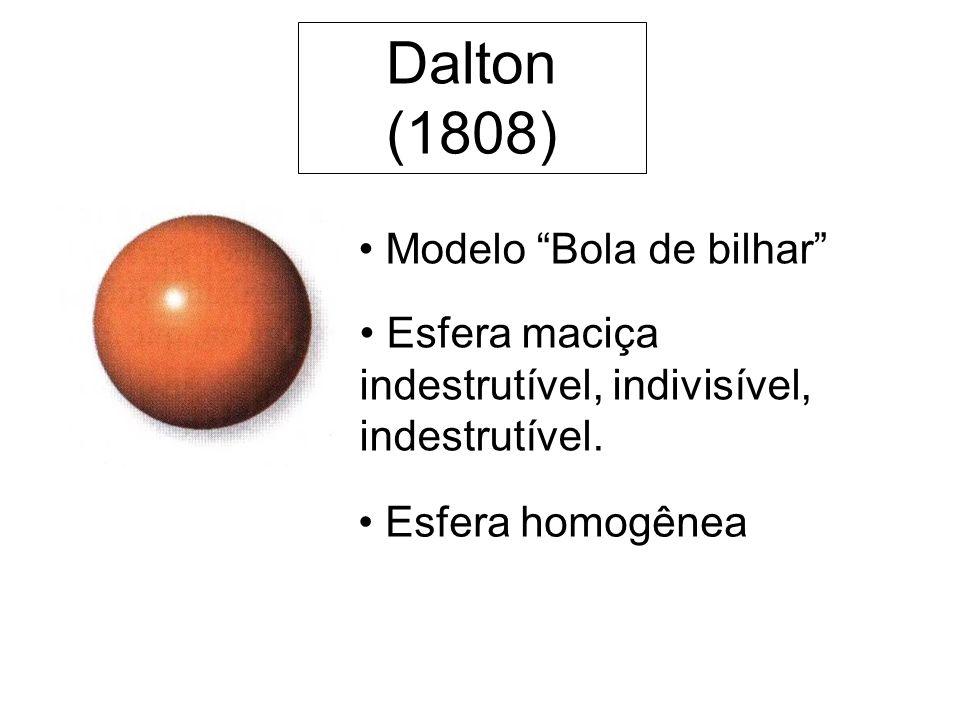 Dalton (1808) Modelo Bola de bilhar