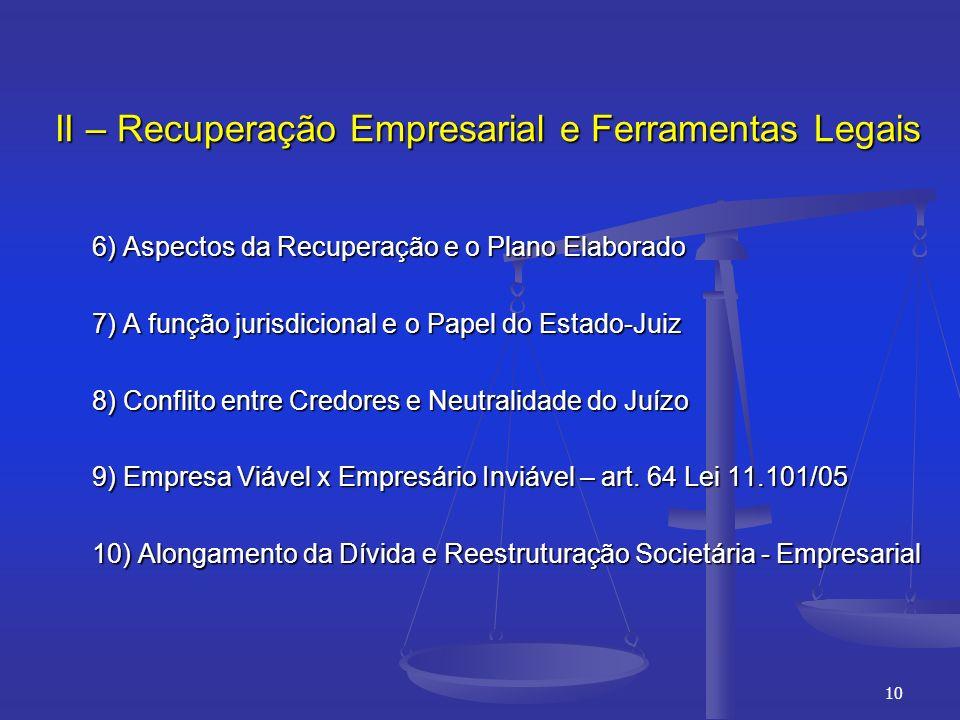 II – Recuperação Empresarial e Ferramentas Legais