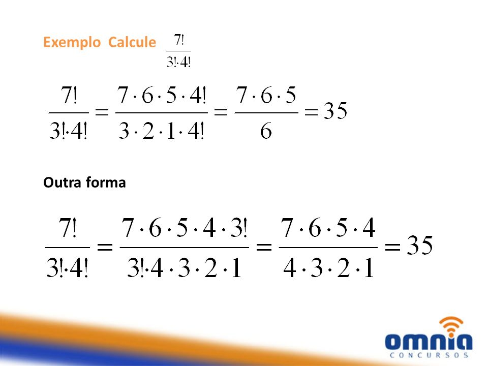 Exemplo Calcule Outra forma