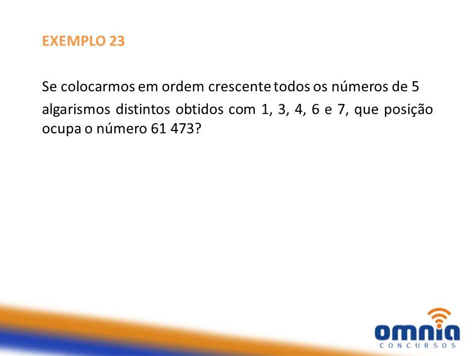 EXEMPLO 23 Se colocarmos em ordem crescente todos os números de 5.