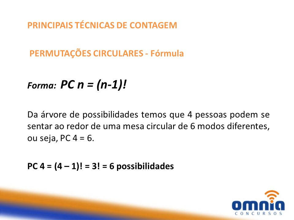 PRINCIPAIS TÉCNICAS DE CONTAGEM