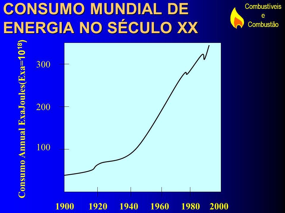 CONSUMO MUNDIAL DE ENERGIA NO SÉCULO XX