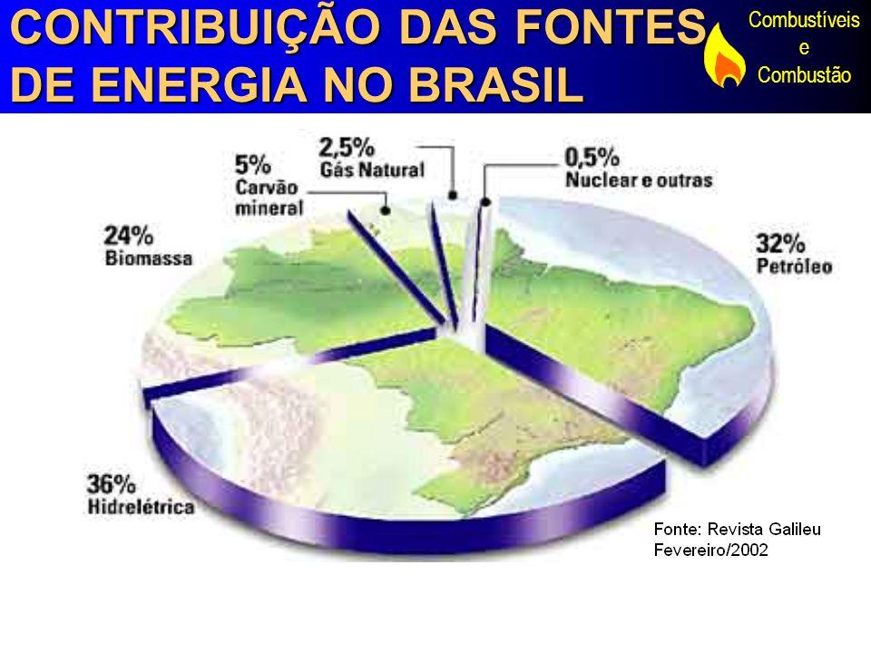 CONTRIBUIÇÃO DAS FONTES DE ENERGIA NO BRASIL