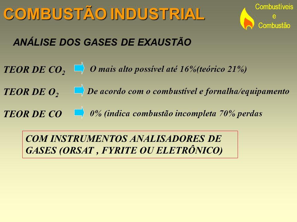 COMBUSTÃO INDUSTRIAL ANÁLISE DOS GASES DE EXAUSTÃO TEOR DE CO2