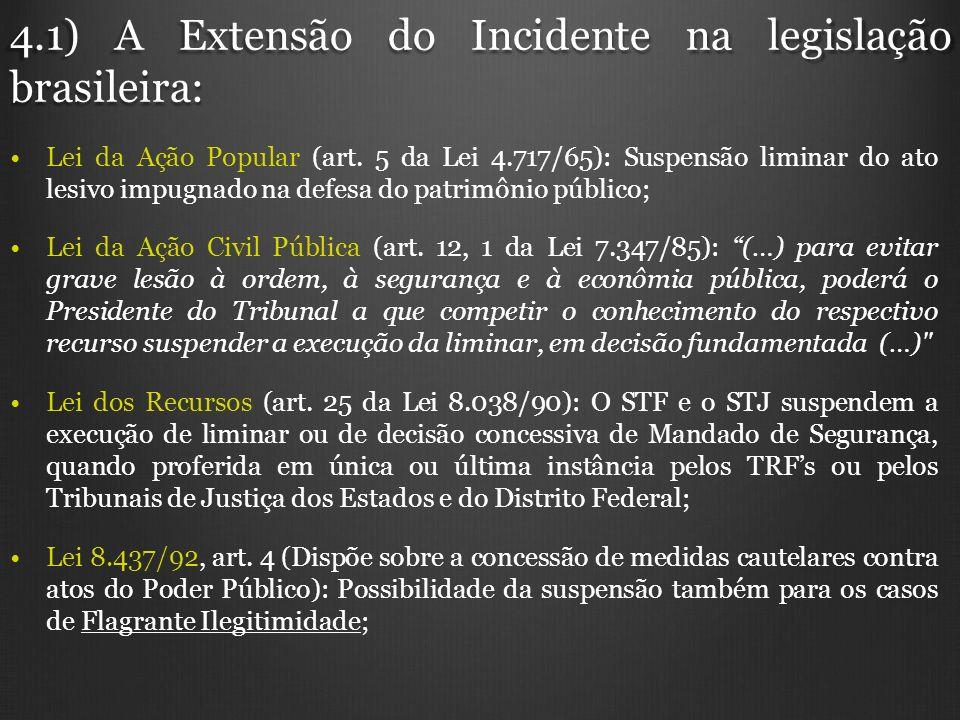 4.1) A Extensão do Incidente na legislação brasileira: