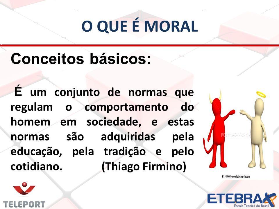 O que é moral Conceitos básicos: