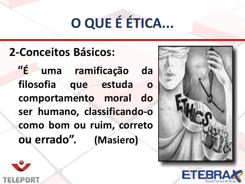O que é ética...