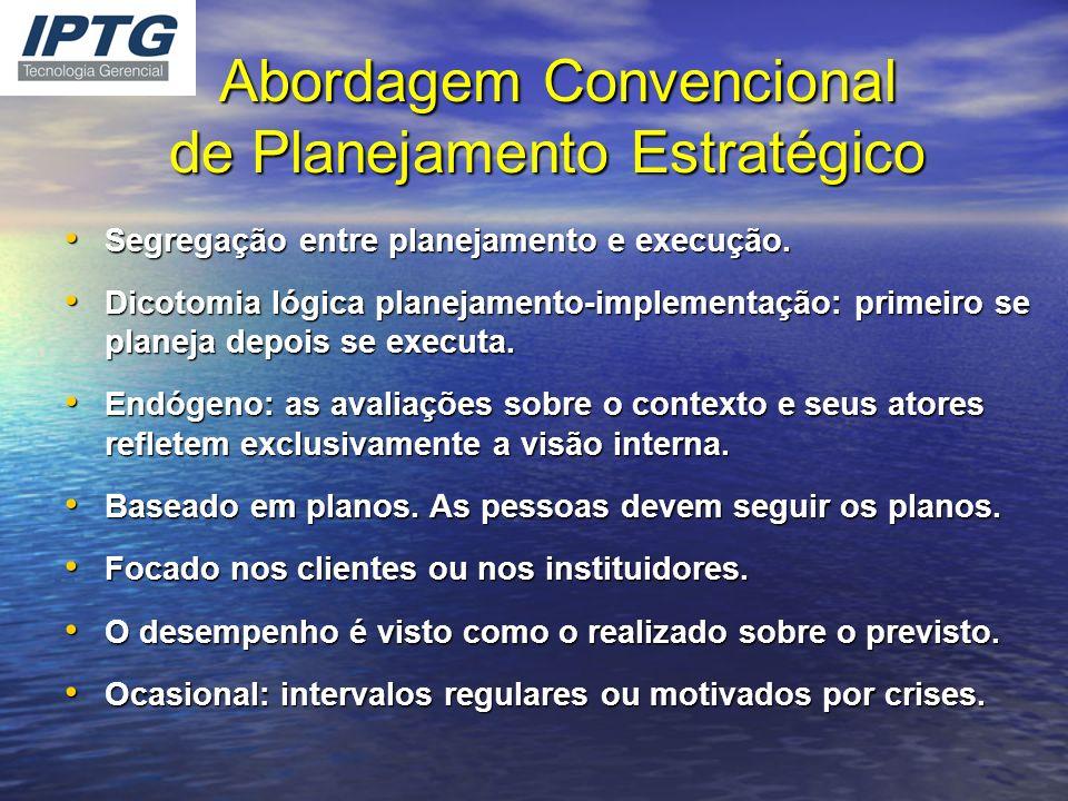 Abordagem Convencional de Planejamento Estratégico