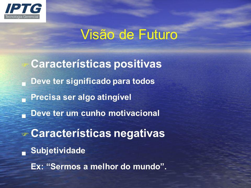 Visão de Futuro Características positivas Características negativas F