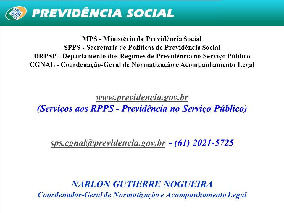 (Serviços aos RPPS - Previdência no Serviço Público)