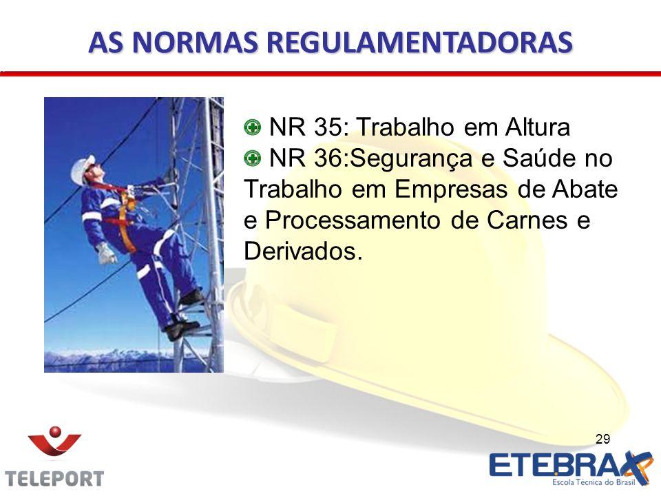 AS NORMAS REGULAMENTADORAS