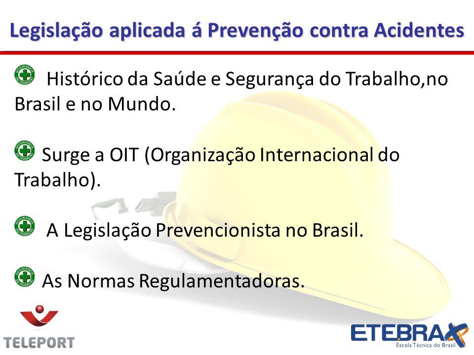 Legislação aplicada á Prevenção contra Acidentes