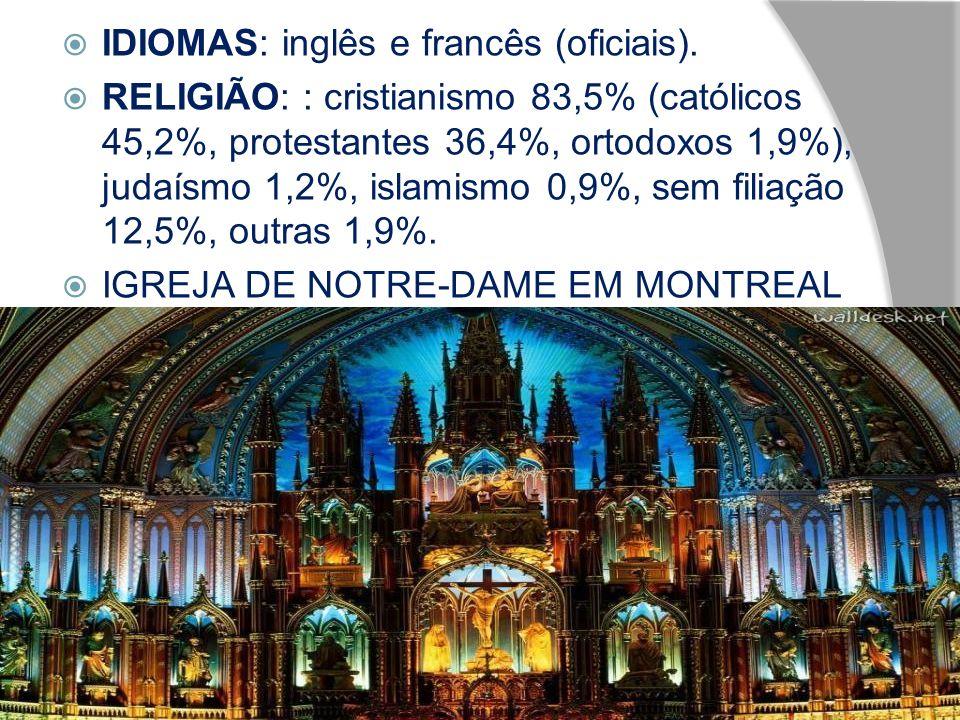 IDIOMAS: inglês e francês (oficiais).