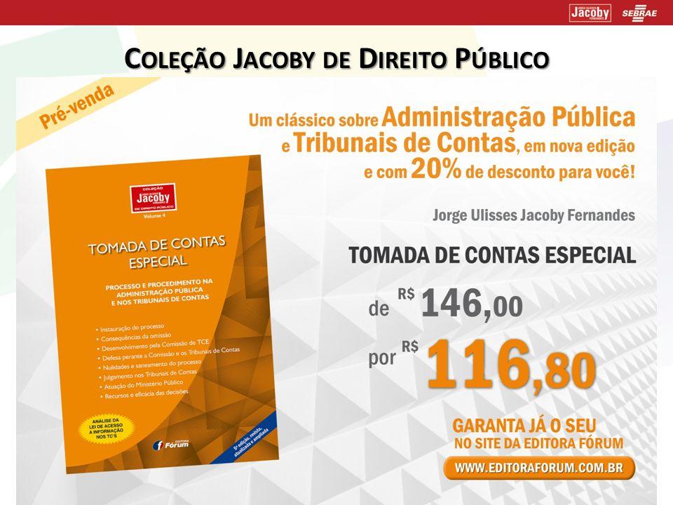 Coleção Jacoby de Direito Público lançamento!