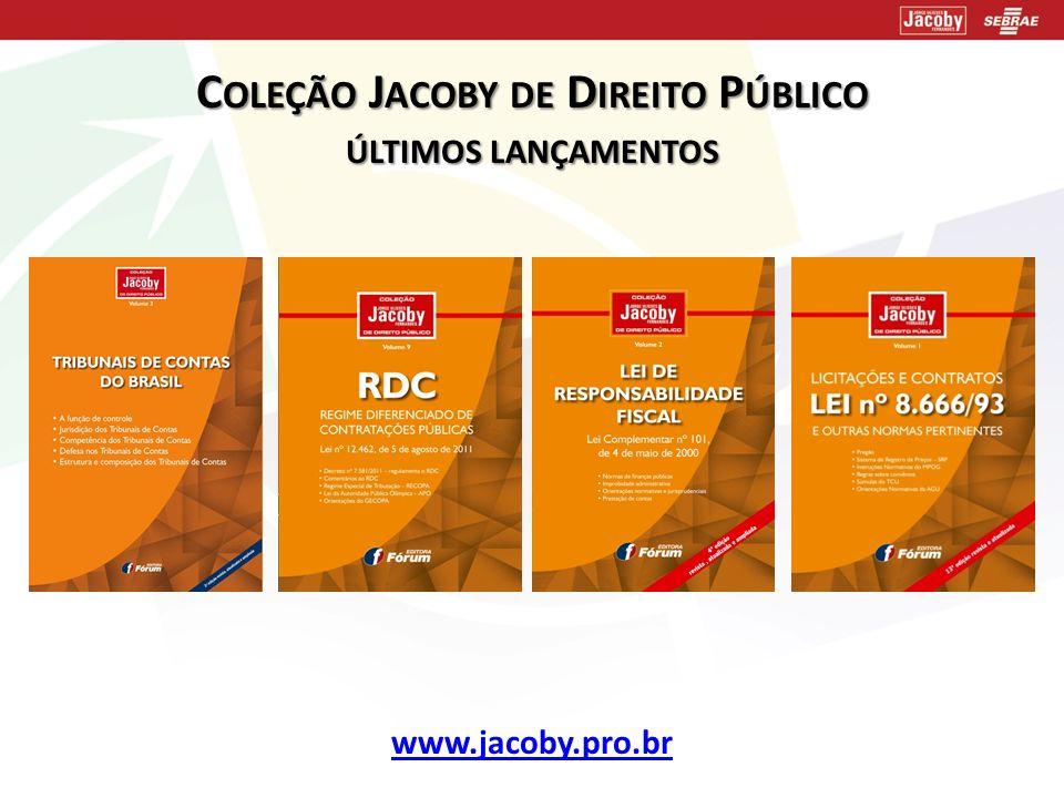 Coleção Jacoby de Direito Público últimos lançamentos
