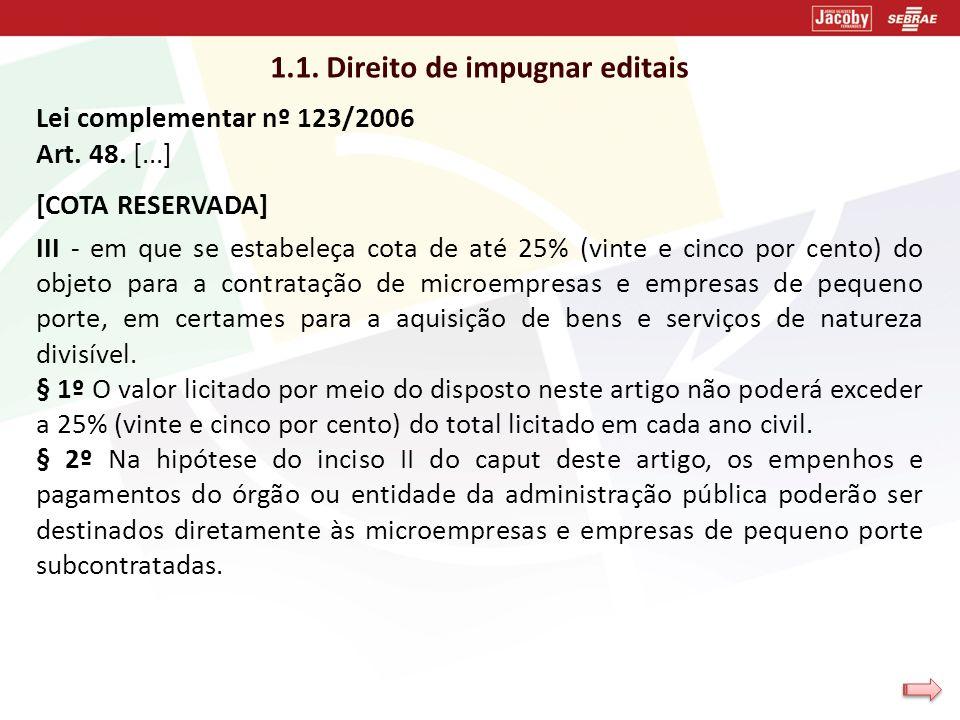 1.1. Direito de impugnar editais