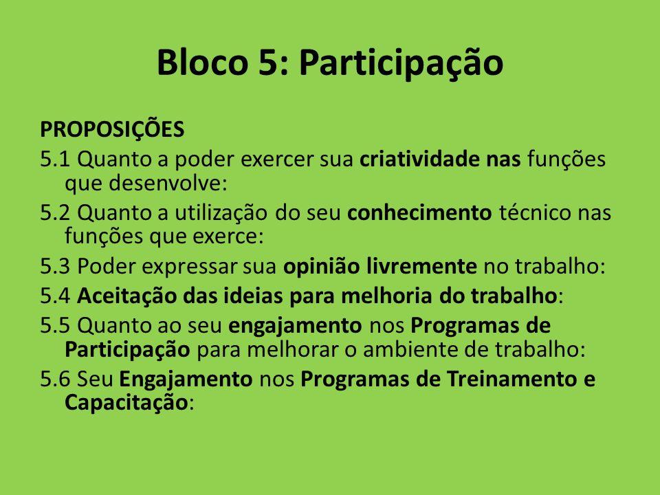 Bloco 5: Participação PROPOSIÇÕES
