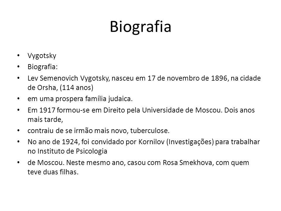 Biografia Vygotsky Biografia: