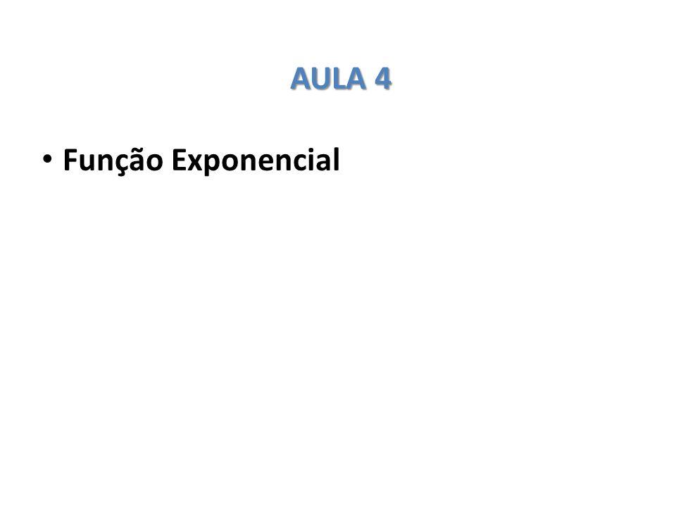 AULA 4 Função Exponencial
