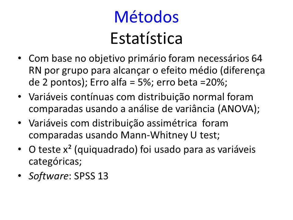 Métodos Estatística