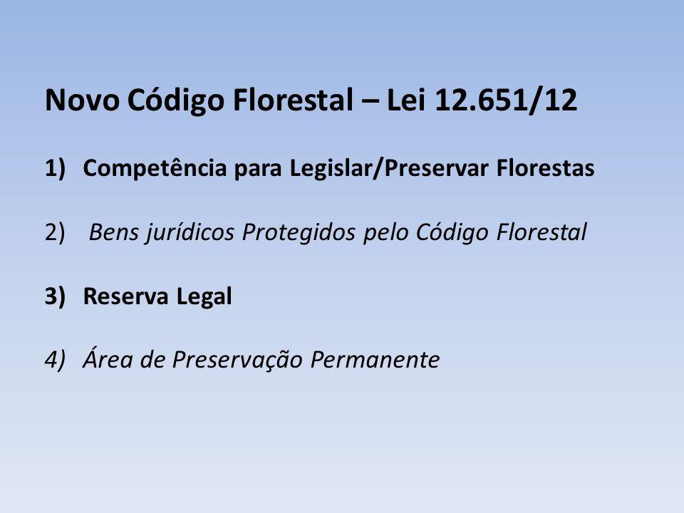 Novo Código Florestal – Lei 12.651/12
