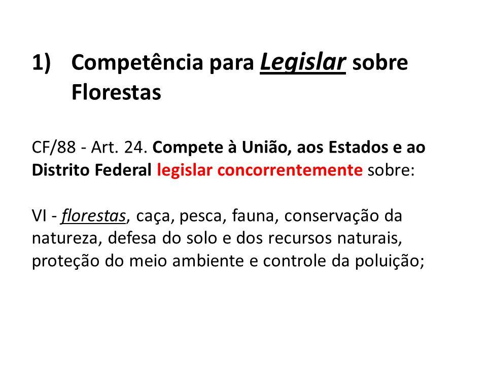 Competência para Legislar sobre Florestas