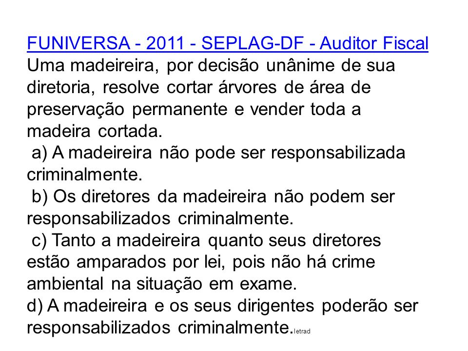 FUNIVERSA - 2011 - SEPLAG-DF - Auditor Fiscal