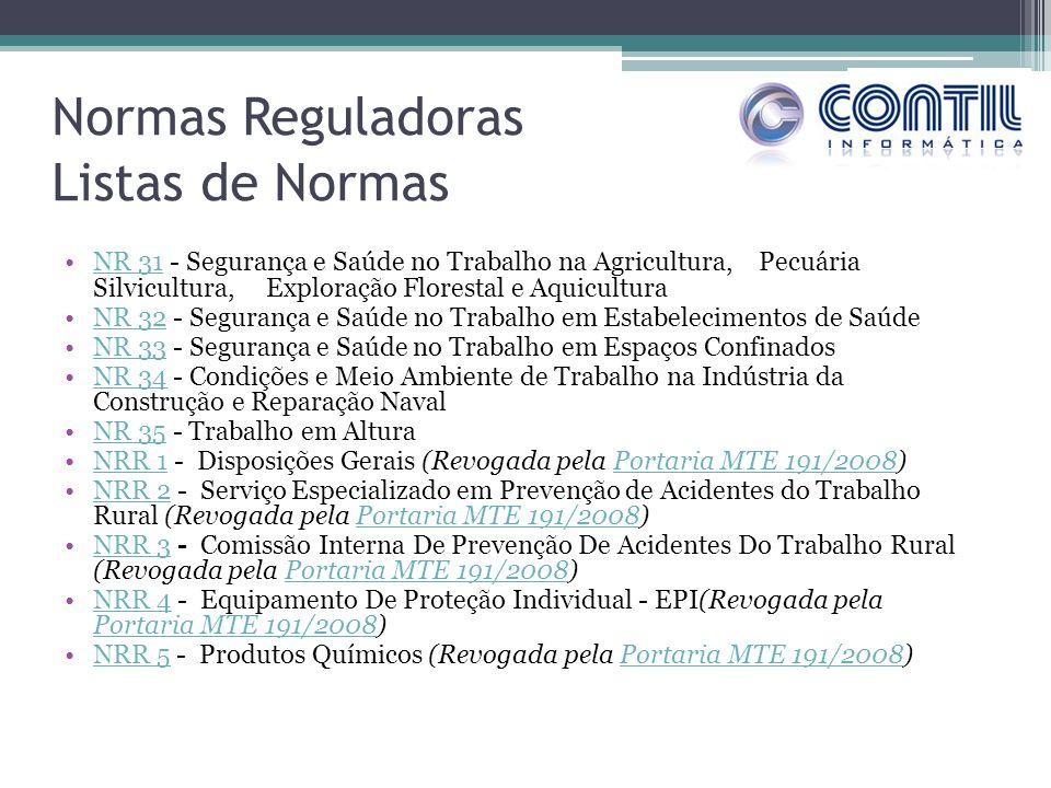 Normas Reguladoras Listas de Normas