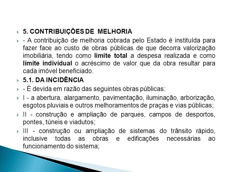 5. CONTRIBUIÇÕES DE MELHORIA