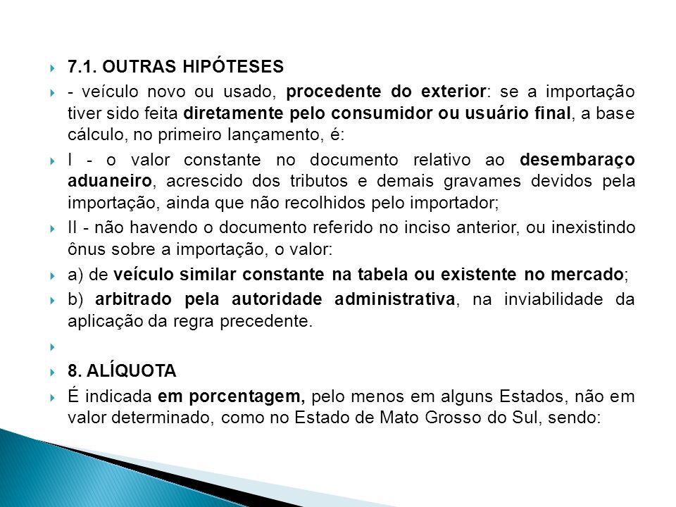 7.1. OUTRAS HIPÓTESES