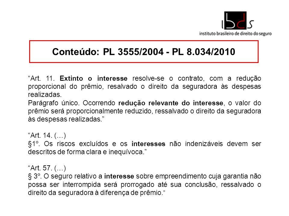Conteúdo: PL 3555/2004 - PL 8.034/2010