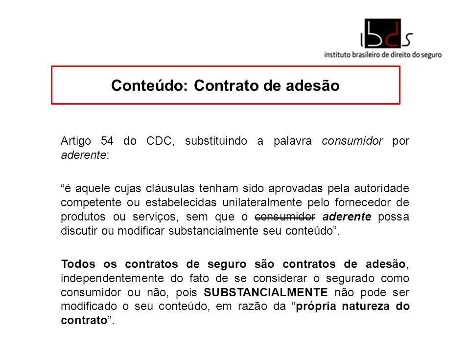 Conteúdo: Contrato de adesão