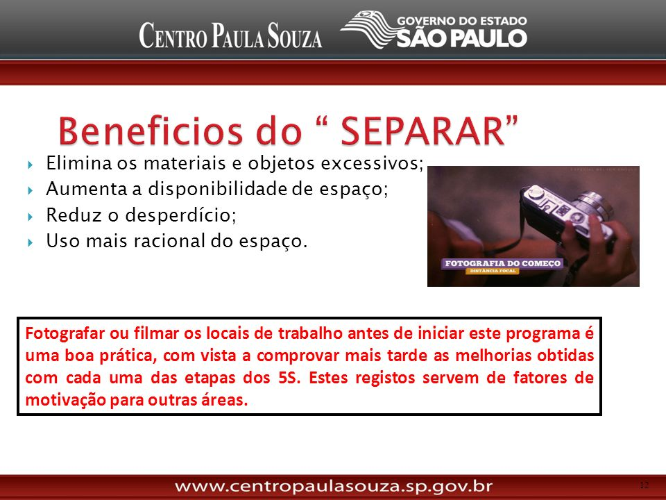 Beneficios do SEPARAR
